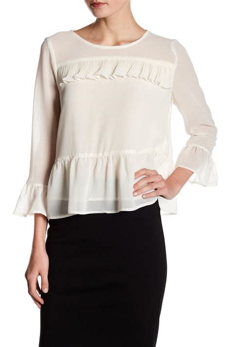 cupcakes and cashmere lyst cupcakes and cashmere katlyn blouse in white