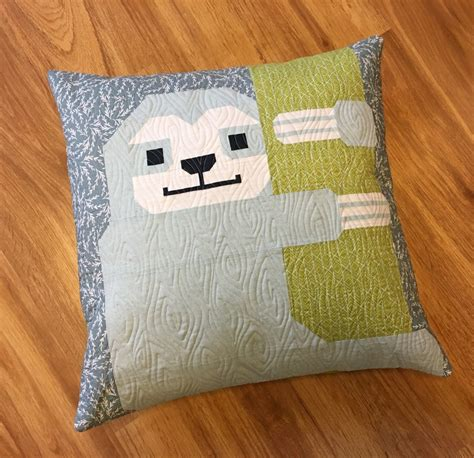 Quilt Pillow Pattern by Sewing Pattern Elizabeth Hartman Sleepy Sloth Quilt And