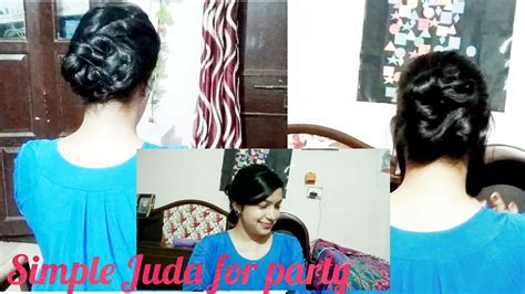 easy juda hairstyles for party simple juda hairstyle for party hairstyle juda in hindi