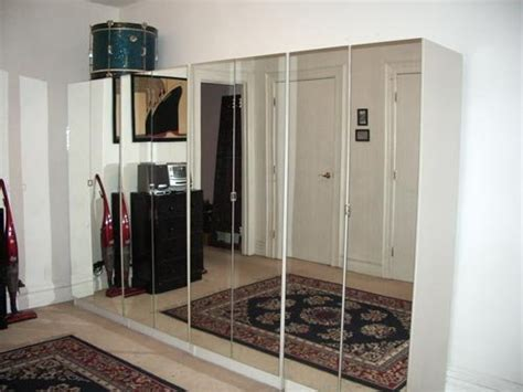 mirror design ideas white wall ikea hinged mirror - Ikea Hinged Mirror Wardrobe Doors
