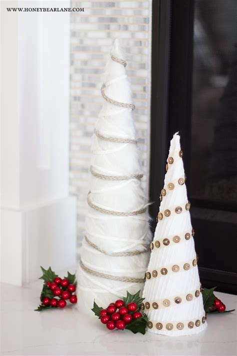 diy white farmhouse christmas trees holiday craft