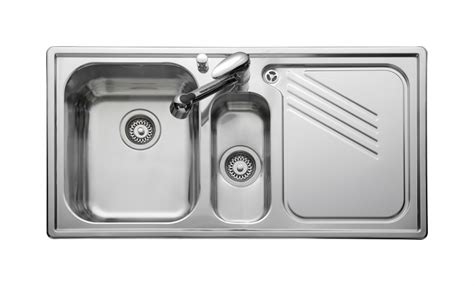 stainless steel kitchen sink right hand drainer leisure proline pl9852r 1 5 bowl 1th stainless steel inset