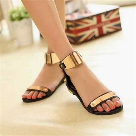 Wedges Fashion Sandal High Heels Hitam Simpel Flat Shoes Murah new fashion wear flat sandals chappal shoes design