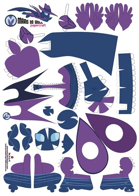 paper craft patterns mare do well papercraft pattern by kna on deviantart