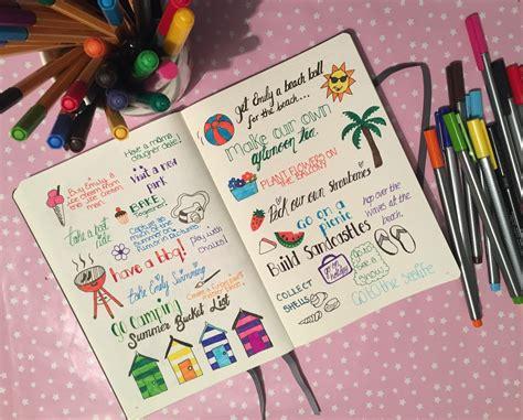 inside my bullet journal summer bucket list raising emily