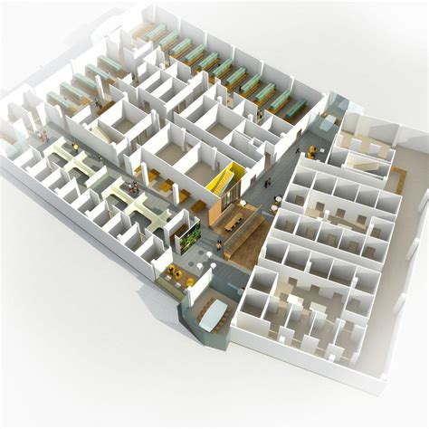 3d Floor Planning aeccafe brigham and women s hospital in boston by nbbj