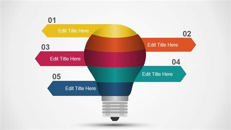 light bulb powerpoint template multi layered light bulb concept for powerpoint slidemodel