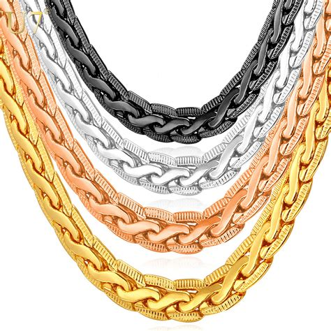 Colored Gold Jewelry Nersels Designer Trendy Gold Jewelry by U7 Quality Gold Color Jewelry Necklace Wholesale