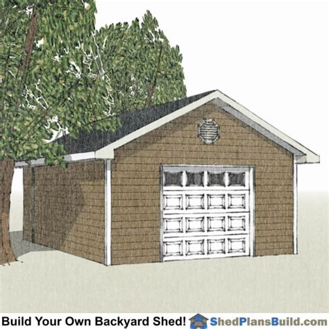 16 X 24 Shed Plans by 16x24 Garage Door Storage Shed Plans