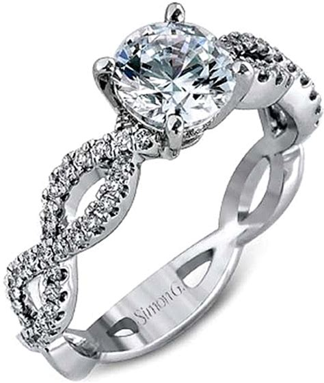 simon g twist shank engagement ring setting mr1596