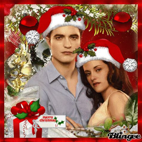 edward  bella cullens christmas picture  blingeecom