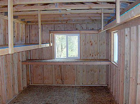 Designing A Garage Workshop california custom sheds inside truss package