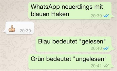 whatsapp update blaue haken bedeuten nachricht gelesen