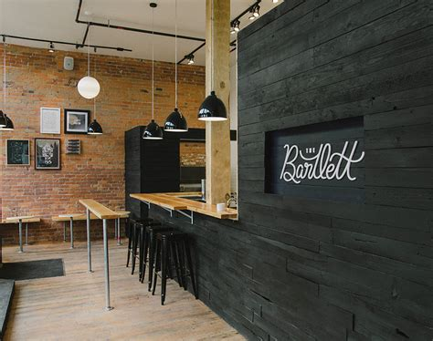 design wall cafe the bartlett cafe interior black washed wood with