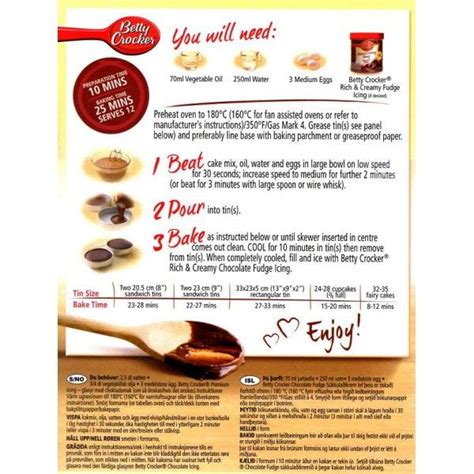 9 Ingredients And Directions Of Tiny Chocolate Cakes And Fruit Kabobs Receipt by Betty Crocker Snackin Cake Mixes Pin Betty Crockers Cake