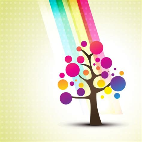 colorful tree floral background with abstract colorful tree vector