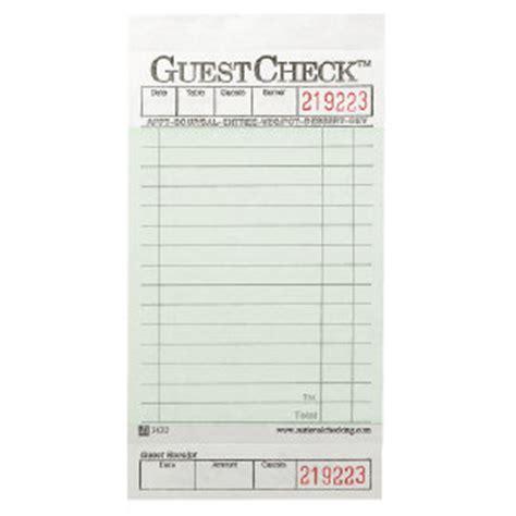 american restaurant receipt templates write classical national check a3632 guestchecks restaurant guest receipt