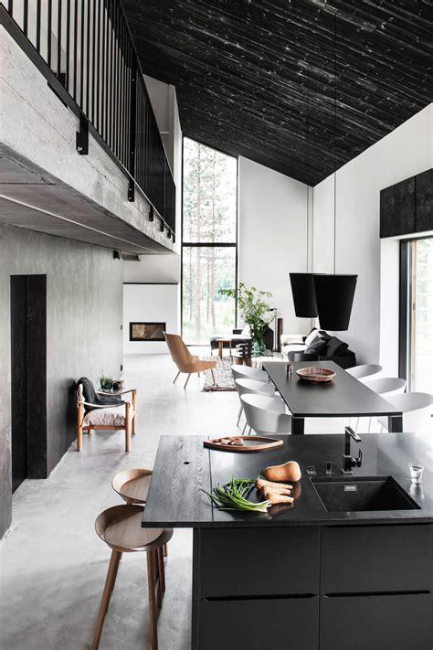 black  white scandinavia kitchen dream house