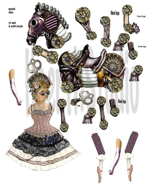 1584 best paper dolls jointed images on pinterest printable vintage circus paper doll steunk ballerina