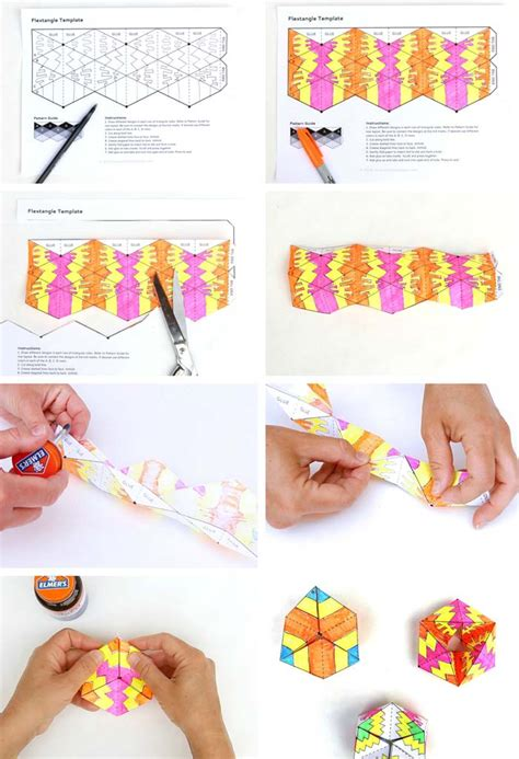 Print And Make Paper Toys - paper flextangles babble dabble do