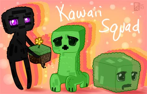imagenes de minecraft kawaii minecraft kawaii squad by kinla on deviantart