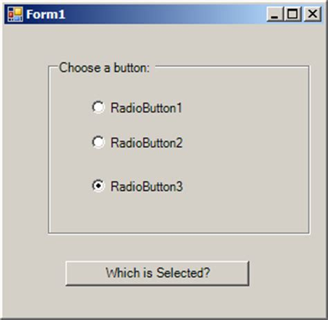tutorial java radio button radiobuttons in a groupbox radiobutton 171 gui 171 vb net