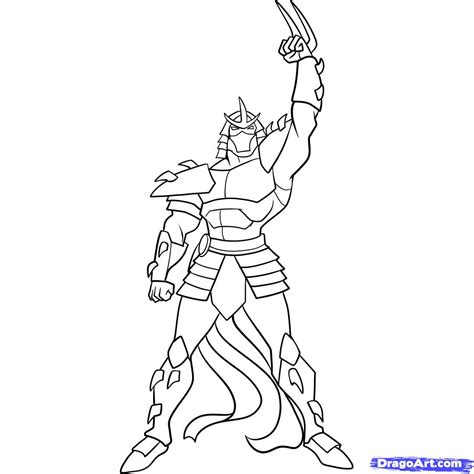 ninja turtles coloring pages how to draw shredder