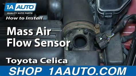 how to install replace mass air flow sensor 2000 05 toyota celica