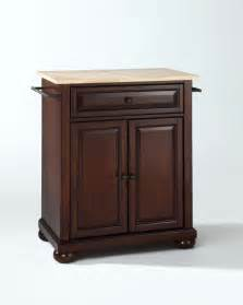 superb Movable Island For Kitchen #2: Alexandria-Natural-Wood-Top-Portable-Kitchen-Island-in-Vintage-Mahogany.jpg