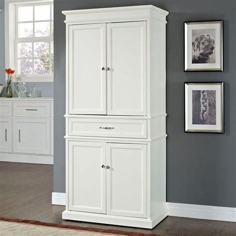 white kitchen storage cabinets crosley parsons white storage cabinet cf3100 wh the home