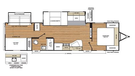 catalina rv floor plans 2018 catalina 323bhdsck travel trailer bunkhouse ebay