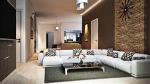 Awesome How To Decor Living Room Wall #4: Living-room-terrific-ideas-for-family-room-decoration-using-stone-veneer-interior-wall-along-with-white-leather-modular-sofa-and-rectangular-black-glass-coffee-table-impressive-picture-of-family-room-948x533.jpg