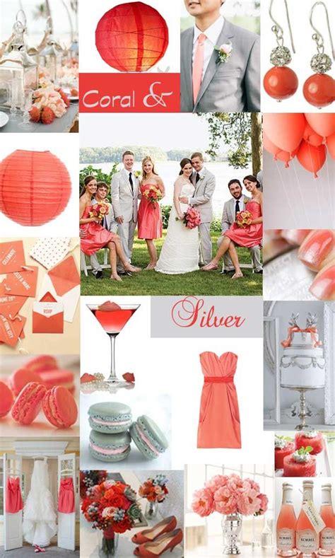 coral silver wedding by www hochzeitstante de color wedding decorations coral
