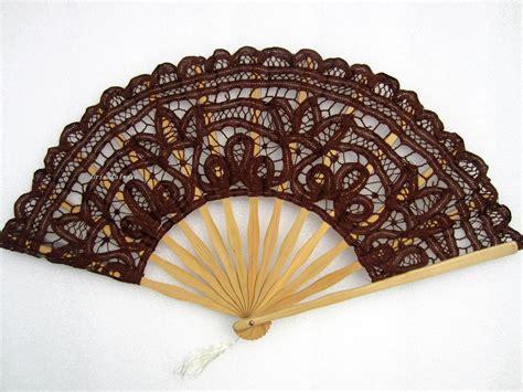 Handmade Fans - handmade renaissance lace bamboo fan 11