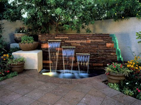 Outdoor deck and water feature japanese room native home garden design