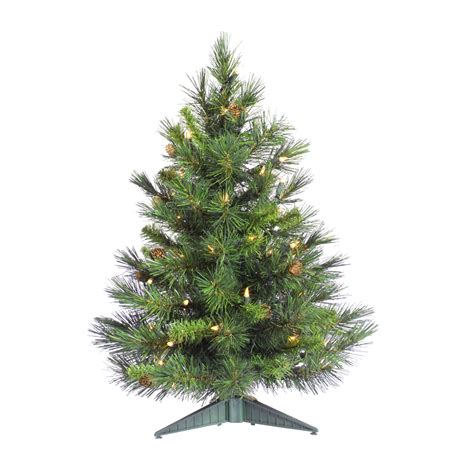 3 foot cheyenne pine christmas tree all lit lights a801004