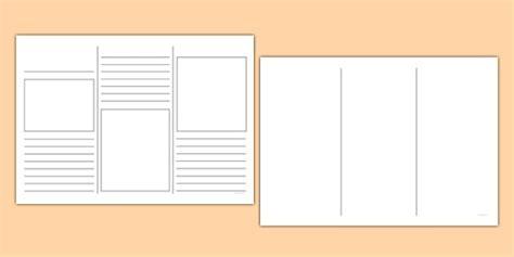 leaflet writing layout leaflet template writing template writing aid leaflets