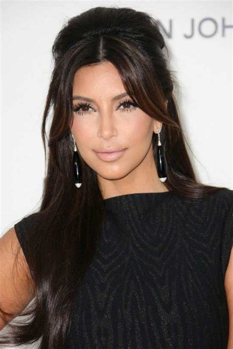 kim kardashian half up half down hairstyles 45 fabulous half up half down hairstyles to make you look