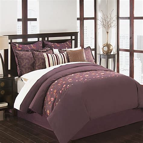 plum colored bedding phoebe king sham plum bed bath beyond