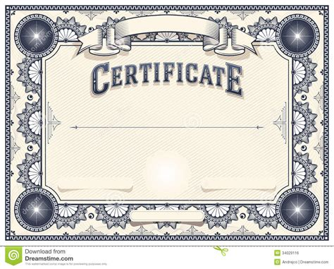 customizable certificate template certificate or diploma template royalty free stock image