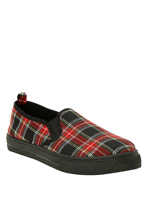 plaid slip on shoes topic