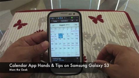 make calendar default samsung galaxy s3 calendar app on tips on samsung galaxy s3