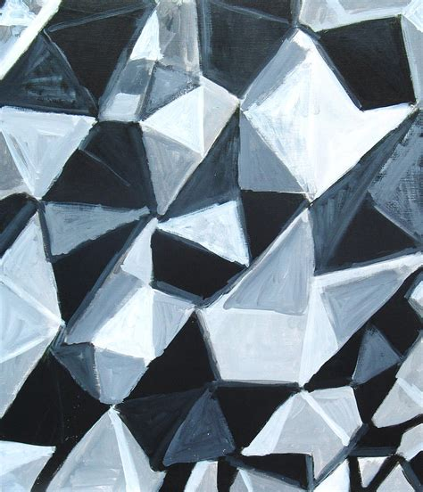 irregular pattern in art irregular triangle pattern in black and white painting by