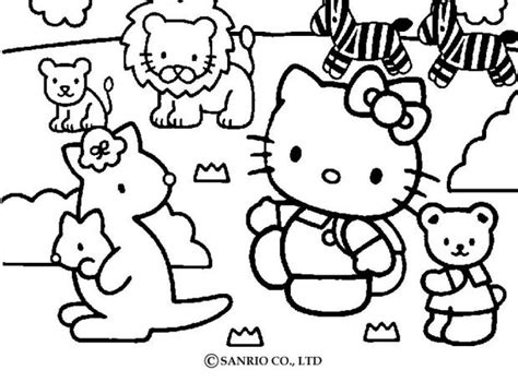 Hello Kitty And Pets Coloring Pages Hellokids Com