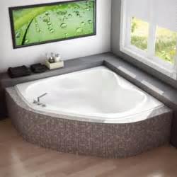 murmur 60 quot x 60 quot corner soaker bathtub at menards