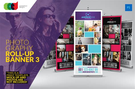 photography banner template photography roll up banner 3 flyer templates on creative