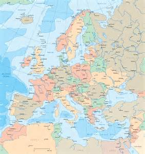 Large Map Of Europe by Large Detailed Political Map Of Europe Europe Large