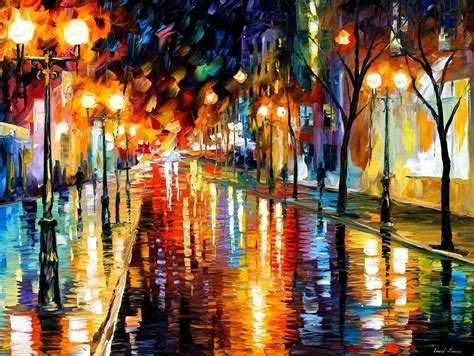 show de painting perspective palette knife painting on canvas