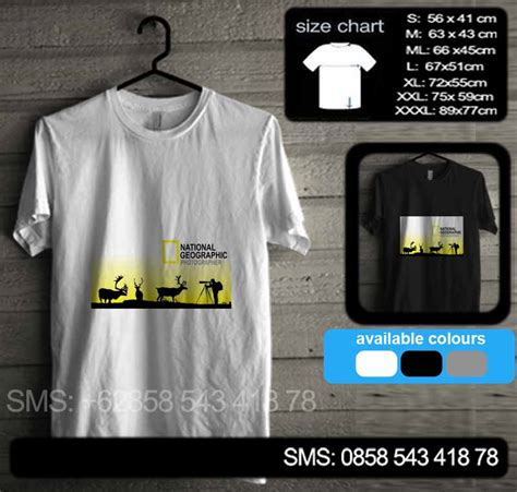 Channel Jaket Kaos Setelan national geographic natgeo15 baju kaos distro murah