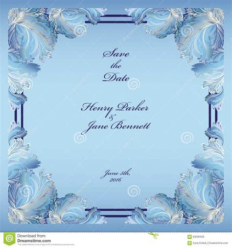 Wedding Background Light Blue by Winter Frozen Glass Design Wedding Frame Background